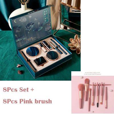 8Pcs and Pink Brush