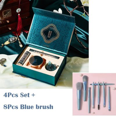 4Pcs and Blue Brush