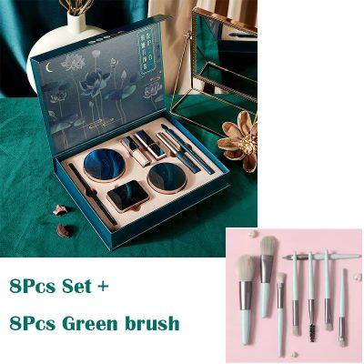 8Pcs and Green Brush