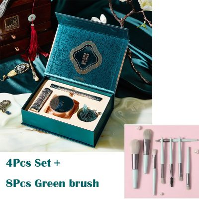 4Pcs and Green Brush