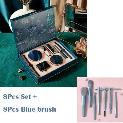 8Pcs and Blue Brush