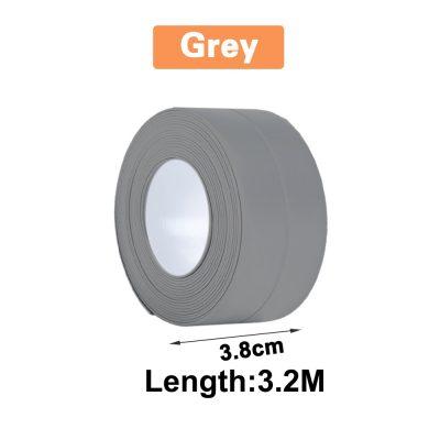 3.2 x 3.8cm Grey