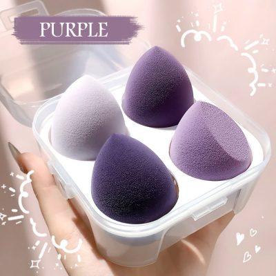 4pcs purple with box