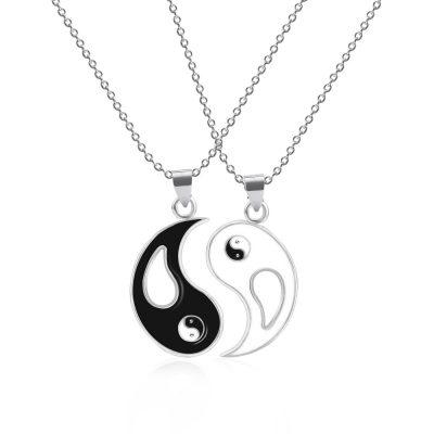 Silver necklace set